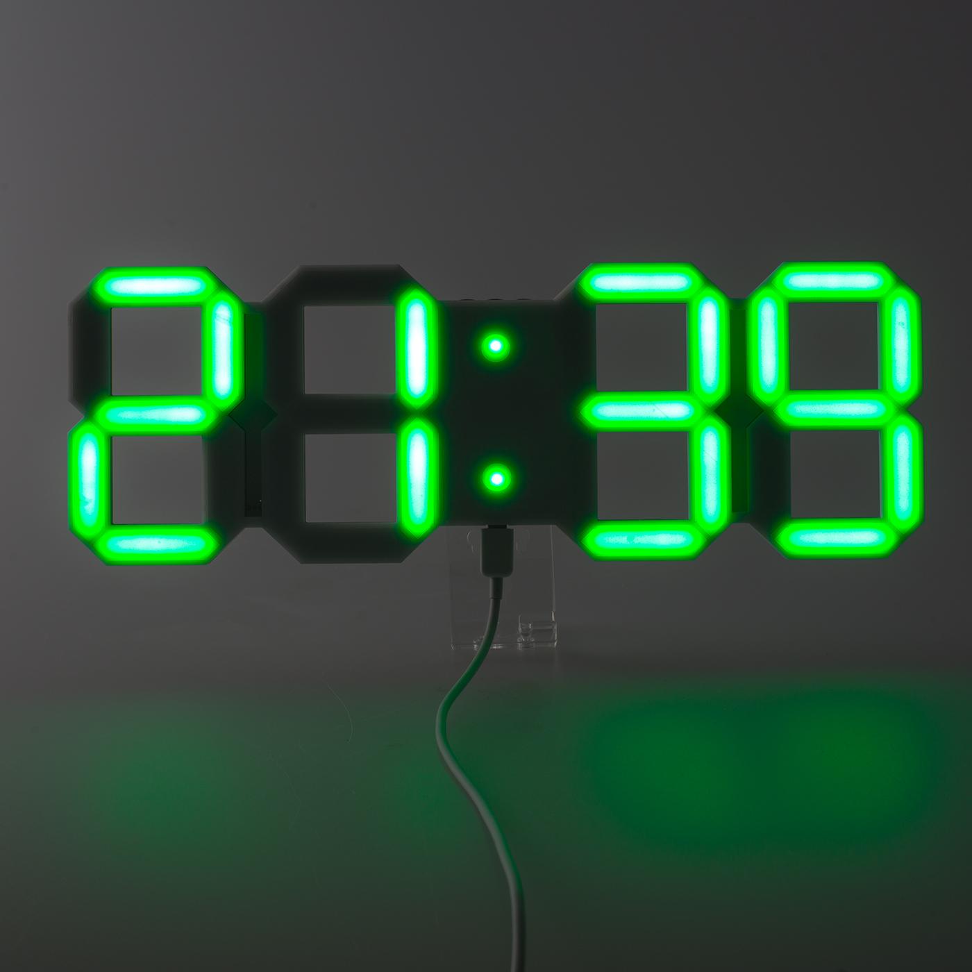 digitale led wanduhr uhr leuchtuhr in 4 farben b ro wartezimmer digital aus de ebay. Black Bedroom Furniture Sets. Home Design Ideas