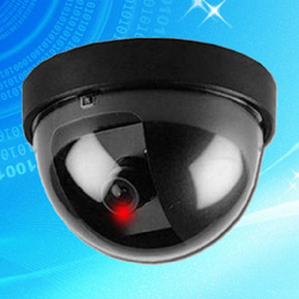 berwachungskamera dummy 1 attrappe kamera fake cam led. Black Bedroom Furniture Sets. Home Design Ideas