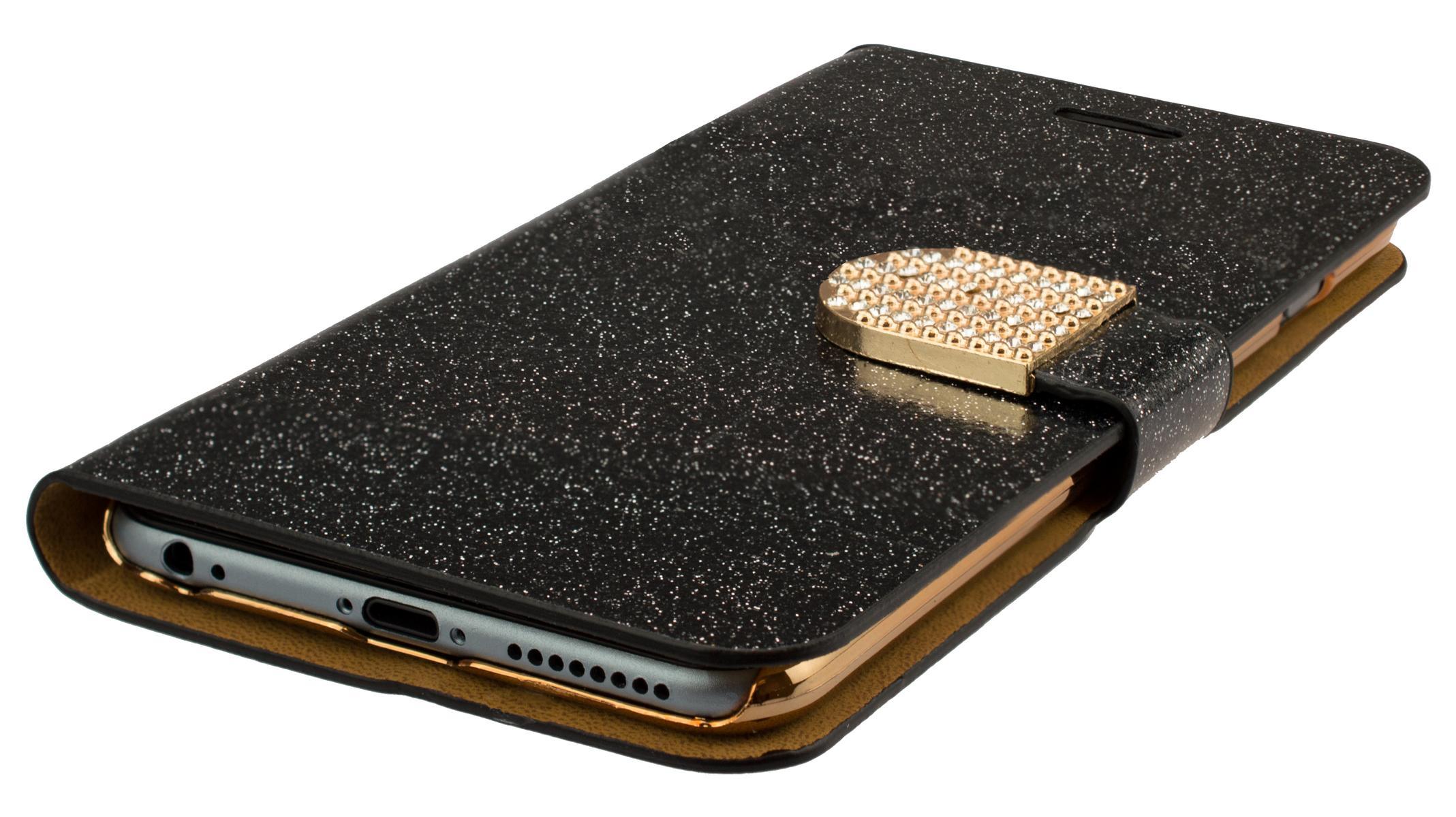iphone 6plus glitzer smartphone h lle tasche handy. Black Bedroom Furniture Sets. Home Design Ideas