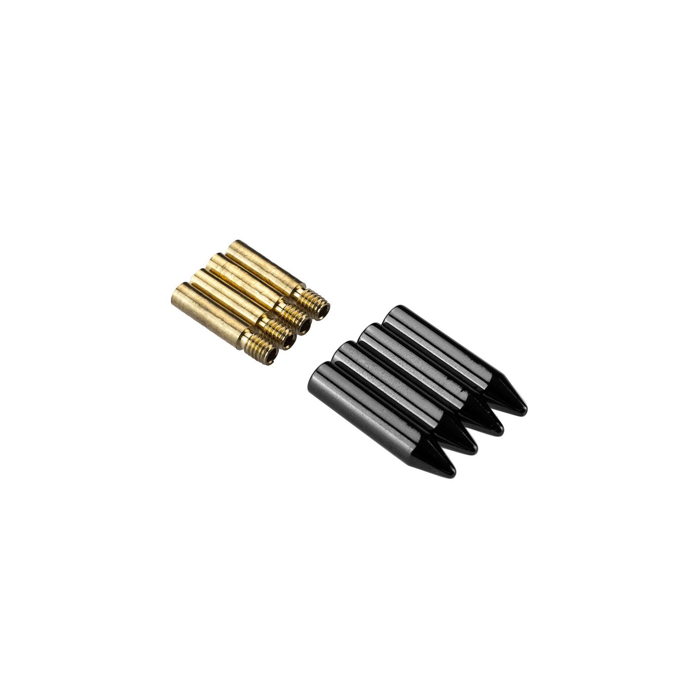 4 st ck metall aglets f r schn rsenkel schn rb nder 4 farben tipps shoe laces ebay. Black Bedroom Furniture Sets. Home Design Ideas
